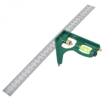 300mm 12 Inch Adjustable Engineers Combination Try Square Right Angle Ruler Set