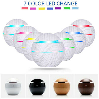 130mL 7 Color LED USB Essential Oil Diffuser Ultrasonic Humidifier Air Purifier