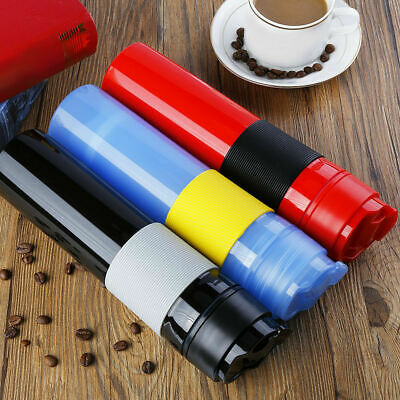BLACK Handheld French Press Coffee Maker Travel Mug Cafetiere Drink Water Cup