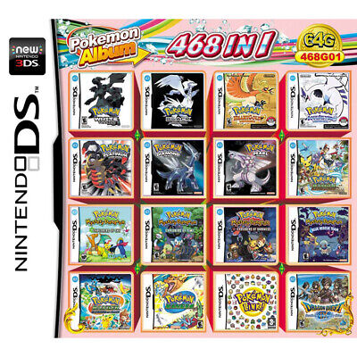 468 Games in 1 NDS Game Pack Card Pokemon Album Cartridge for DS 2DS New 3DS AU