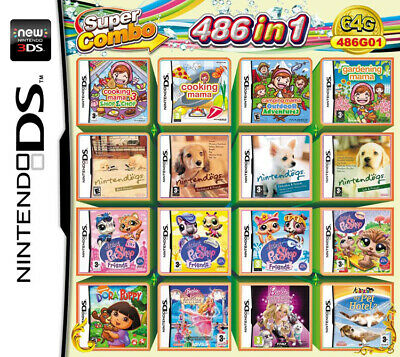 486 Games in 1 NDS Game Pack Card Super Combo Cartridge for DS 2DS New 3DS AU