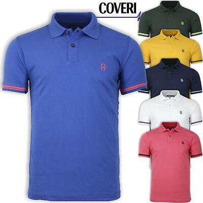Polo Uomo Manica Corta 100%  Cotone Jersey COVERI MOVING M L XL XXL 3XL