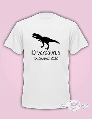 Personalised Dinosaur T-REX With Any Name Boy Girl Birthday T-shirt kids