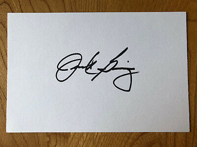 Jack Ging American actor 6x4 signed autographed card