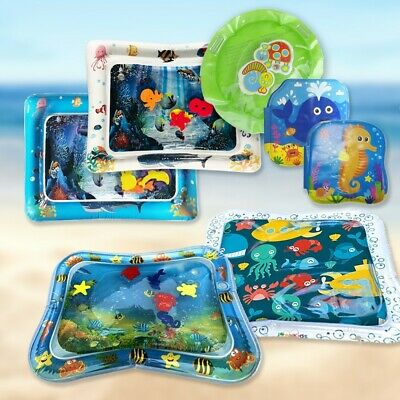 7pcs Inflatable Baby Water Mat Fun Activity Play Center for Children & Infants