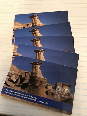 5 of ERROR Canada 2015 UNESCO World Heritage Sites 6 Stamps Booklet CP recalled