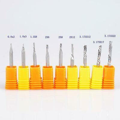 10pc SHK 3.175mm AAA Left Spiral Milling Cutter Down Cut One Flute Router Bit