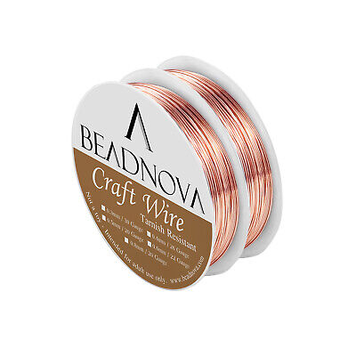 Tarnish Resistant Bare Copper Wire For Jewelry Making 26/22/20 Gauge 2 Roll Pack