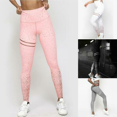 Women Yoga Pants Ladies Fitness Leggings Running Gym Exercise Sport Trousers New