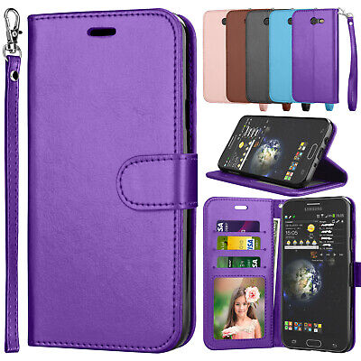 For Samsung Galaxy Halo Wallet Phone Leather Card Holder Strap Stand Case Cover
