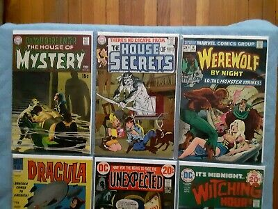 Huge Lot of vintage HORROR Comics House of Mystery  #181 House of Secrets #82 DC