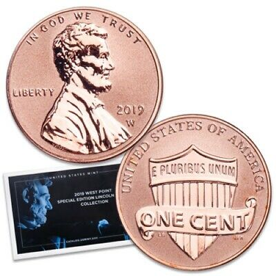 2019 W PROOF REVERSE LINCOLN CENT FROM THE SILVER SET 2nd WEST POINT