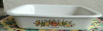 Vtg large CORNING WARE Spice of Life L'Echalote A-21 Lasagna open roaster pan