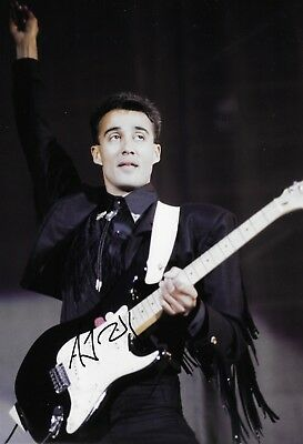 andrew ridgeley WHAM playing guitar FINAL PERFORMANCE WEMBLEY signed 12x8 photo