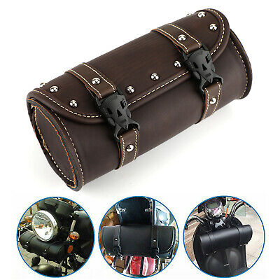 Universal Motorcycle Front Fork Tool Bag Pouch Luggage SaddleBag For Harley