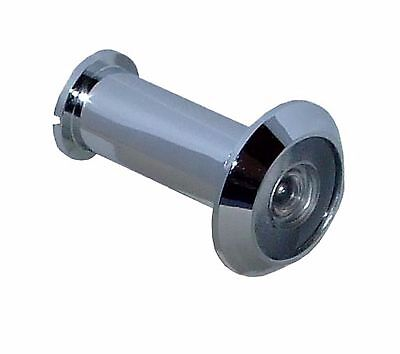 Door Spy Brass Chrome Polished with Glass Lens Wide Angle 200° 0 9/16in