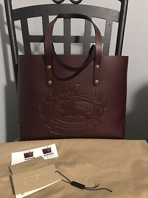 7e079f4174d93 BURBERRY SMALL EMBOSSED Crest Leather Tote -  650.00
