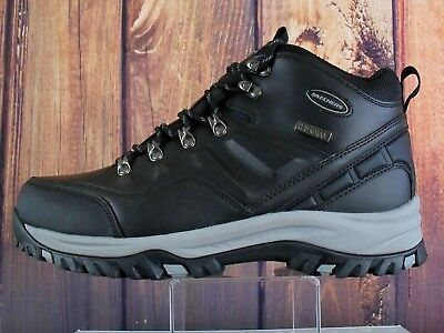 e8a2951b7c9 SKECHERS MEN'S HIKING Boots Work Black Waterproof Leather & Synthetic 11M/W