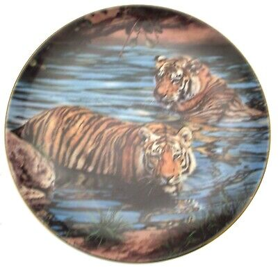Bathing Tigers Tigers of the World Plate CP1552