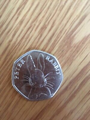 50p Coin 2016 Peter Rabbit Good Condition. Circulated.