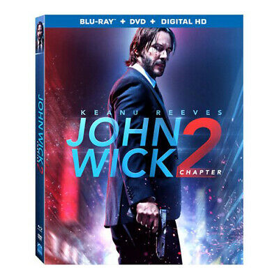 John Wick: Chapter 2 Blu-ray DVD Digital HD Keanu Reeves NEW