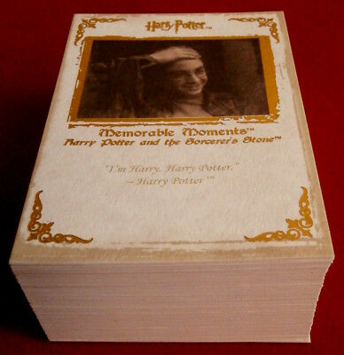 HARRY POTTER - MEMORABLE MOMENTS - COMPLETE BASE SET of 72 cards ARTBOX - 2006