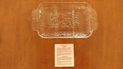Princess House Products Fantasia Crystal 3 Section Serving Dish