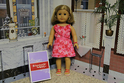 """American Girl """"Red Hearts Ruffle Dress Outfit"""" - COMPLETE - NIB"""