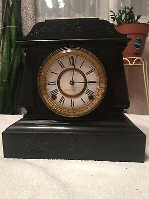 Antique Ansonia Cast Iron Mantle Clock