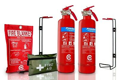 Gas Safe Engineer FIRE Safety Essential Pack Extinguisher 1ST AID KIT BLANKET KM