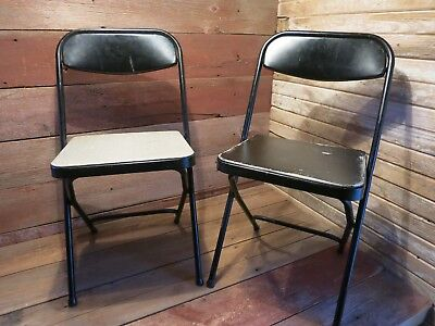 Outstanding Vintage Samsonite Metal Folding Chairs Black With Vinyl Pads Pdpeps Interior Chair Design Pdpepsorg
