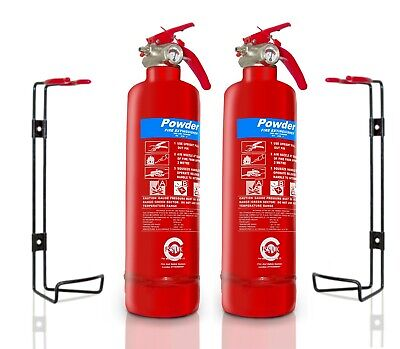 Gas Safe Engineer FIRE Safety Basic Pack 2 X Fire Extinguishers BSi Kitemarked