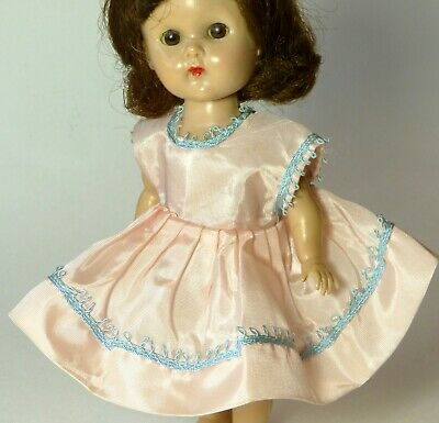 """Vintage Pink Taffeta Party DRESS for Ginny Muffie Ginger & Other 1950's 8"""" Dolls"""