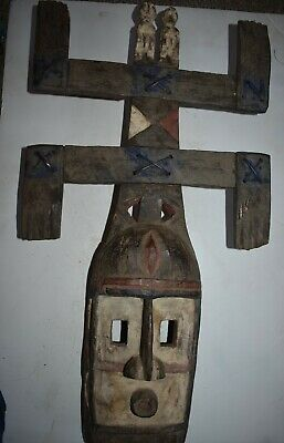 "orig $499-DOGON MASK, EARLY 1900S LARGE 26"" PROV."
