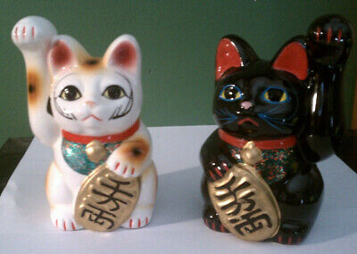 Japanese Cats piggy banks Lot