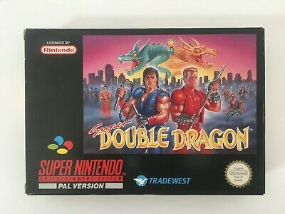 Super Nintendo SNES * SUPER DOUBLE DRAGON * PAL (FRG) komplett OVP CiB