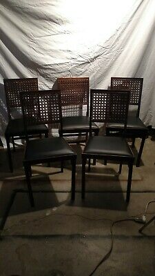 Set of 5 Vintage Leg-O-matic Folding Chairs, Airstream RV  Chairs, Some Wear