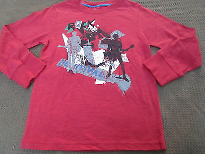 Boys Pumpkin Patch Urban Retro Red printed long sleeve tee Size 5  6  & 11   NWT