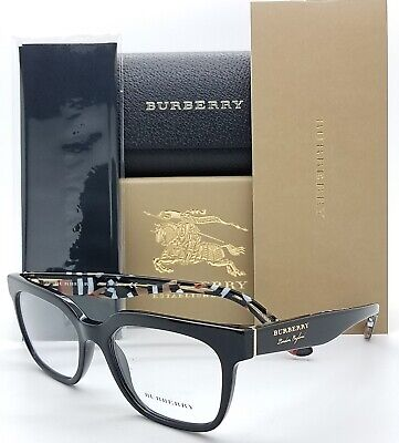 NEW Burberry RX frame BE2277 3735 51mm Black 2277 Classic Vintage London England