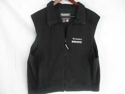 Vtg Usa Simms Gore Windstopper Fleece Vest Color Black Size Xl Fly Fish