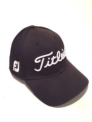 New Era Foot Joy Titleist Pro V1 Black Fashion Golf Hat Cap Sz Medium / Large