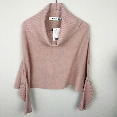 e6bac427f4 N3 Sparrow Anthropologie Harrignton Cowl Neck Cashmere Sweater NWT Sz M  228