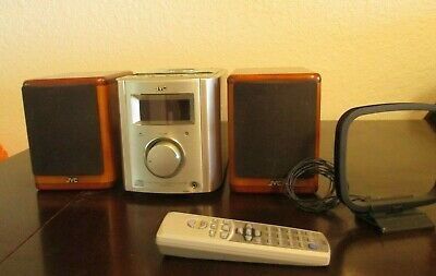 JVC FS-7000 Ultra Compact Mini AM/FM/CD Stereo Player Cherry Speakers EXCELLENT!
