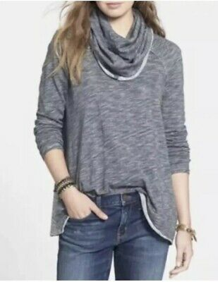 1615e3a75f FREE PEOPLE Beach Cocoon Oversize Cowl Neck Sweater Gray Size One Body