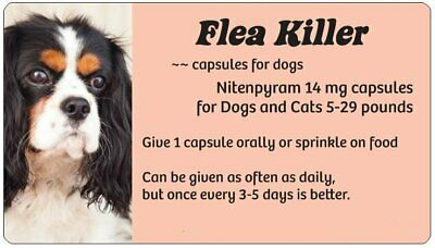 Get a Jump on Fleas SALE! Flea Killer Medication for Dogs 5-29 lbs~24 Peach Caps