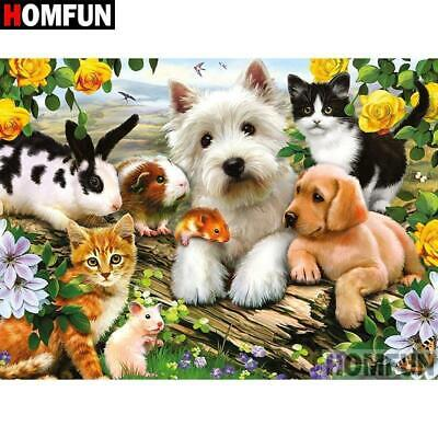5D Diamond Painting Animals in the Yellow Roses Kit
