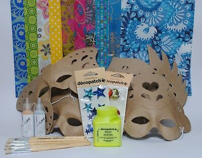 Mask Party Kit for 6 People Decopatch Entertainment Decopatch Mask Activity Kit