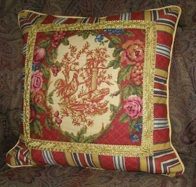 18 Custom Throw Pillow Cover Farmhouse French Country
