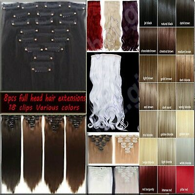 Hair Extension Real Natural feel black dark Gold brown ash golden pale blondes
