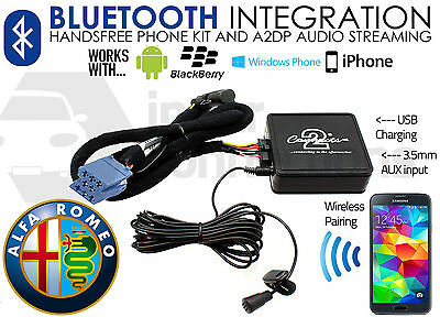 Alfa Romeo Brera Bluetooth streaming adapter handsfree calls CTAARBT001 AUX car
